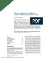 Abords vasculaires d'hémodialyse - principes, abords artérioveineux natifs