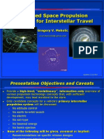 Adv Space Propulsion for Interstellar Travel