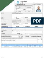 Maersk Line Application FormBasenko D