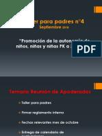 Reunión Sept. Autonomía en la infancia  PK-2° básico
