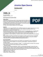 VHDL (I)