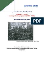 El Mapu-Lautaro en Las Protestas Populares