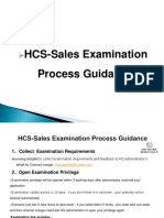 HCS-Sales Examination Process & Associate With Copmany Guidance