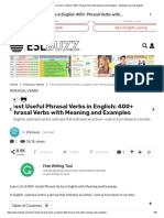 Most Useful Phrasal Verbs in English_ 400+ Phrasal Verbs with Meaning and Examples - ESLBuzz Learning English