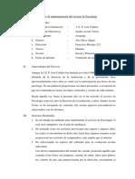 Informe de Implementación Del Servicio de Psicología José Cadalso (Avance)
