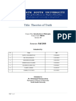 Theories of Truth PHI101_KRL_NSU