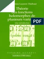 C. Laurent-Thiébaut-Théorie Des Fonctions Holomorphes de Plusieurs Variables. Une Introduction-EDP Sciences (1997)