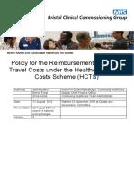 HC Travel Cost Scheme Policy