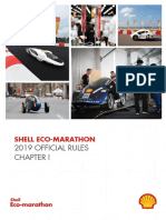 Shell Eco Marathon 2019 Global Rules Chapter I