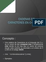 Cadenas de Caracteres en C++