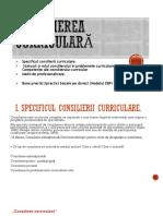 CONSILIERE CURRICULARA
