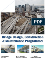 Bridge Design, Construction and Maintenance Course 2019 - Dubai, Cape Town, London
