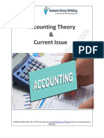 Analyzing Effects of Positive Accounting Theory & Current Issue in an Organization