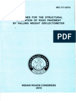 IRC 117 -2015 Structural Evaluation of Rigid Pavement by FWD.pdf