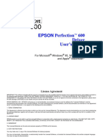 Epson Perfection 600 - Manual