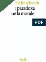 Le Paradoxe de La Morale - Jankelevitch, Vladimir