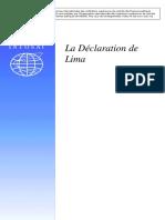 Déclaration Lima INTOSAI