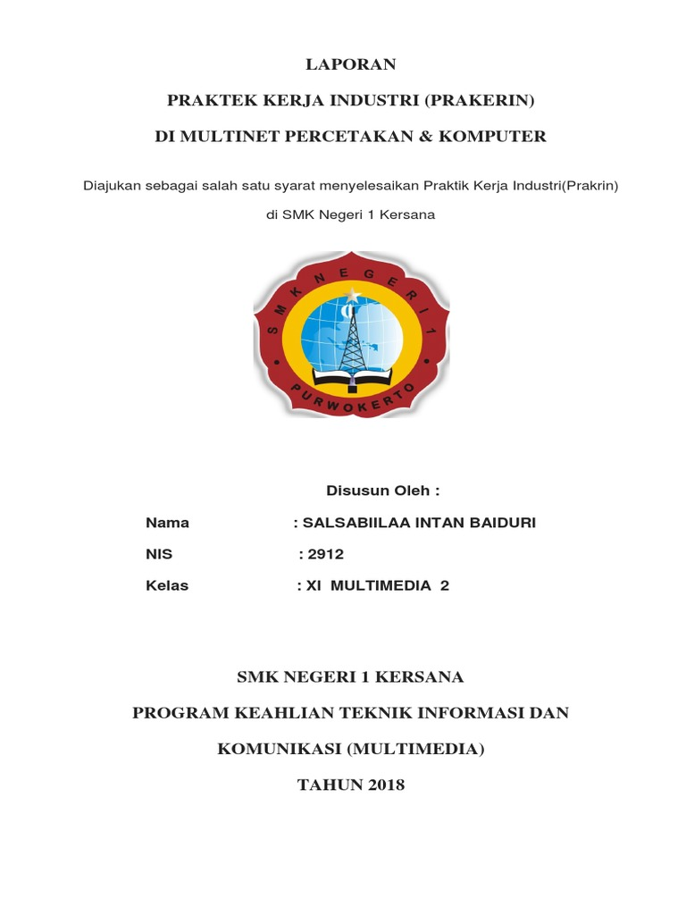 Laporan Pkl Jurusan Multimedia Intan