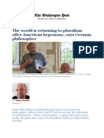 Peter Sloterdijk Interview_'the World is Returning to Pluralism After American Hegemony'_WorldPost & Washington Post_Jan 2017