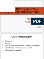 138444976-Constitution-of-India-Structure-and-Features-Ppt.pptx