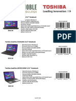 Toshiba FY14 Fall Flyer