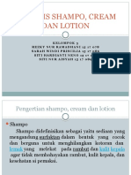 Analisis Shampo, Cream Dan Lotion