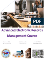 New - Advanced Electronic Records Management Course - 2019