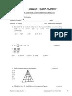 Examen III Unidad de Razonamiento Matematico Primero de Secundaria
