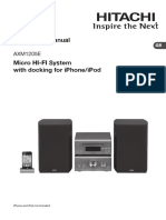HITACHI CD MICRO HI FI SYSTEM AXM1205E Manual