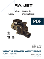 Wow & Power Wow Pump 60Hz Installation Guide