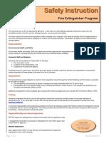 Fire Extinguisher Program Si
