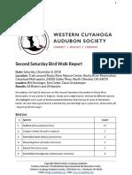 Second Saturday Bird Walk December 8, 2018 at Rocky River Nature Center Report