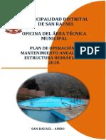 Plan de Operación y Mantenimiento Anual de Las Estructuras Hidráulicas