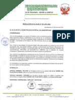 RESOLUCION DE ALCALDIA N°001-2016-MDJ
