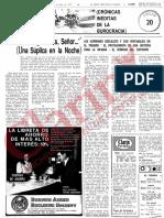 Columna de Osvaldo Bayer en Clarín en 1971