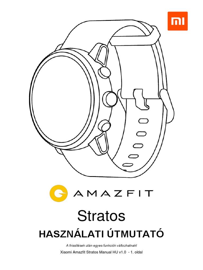 Xiaomi Amazfit Stratos Manual Wayteq Hu