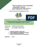 Protección Del Generador en Minicentrales Eléctricas