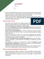 Assam Accord - 1985, Brief