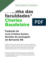 A rainha das faculdades - Baudelaire