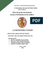 CITACIÓN Y CONVOCATORIA