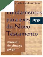 Fundamentos Para Exegese Do Novo Testamento Carlos Osvaldo Cardoso Pinto