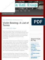 Violin Bowing - a list of terms