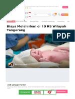 Biaya Melahirkan Di 10 RS Wilayah Tangerang