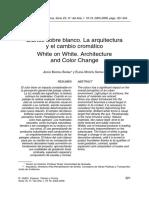 Blanco Sobre Blanco - La Arquitectura y El Cambio Cromático