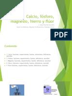 2018- Sesión 08-Calcio, Fósforo, Magnesio, Fluor y Hierro 2018
