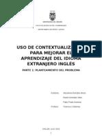 Uso de la contextualización para mejorar aprendizaje del ingles