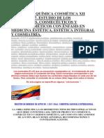 Manual de Química Cosmética Xii Edición 2017