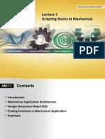 Scripting Basics of Mechanical