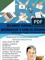 Selamat Datang Dalam Workshop 2 Hari Di Athaya