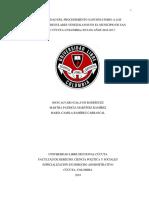 Aplicabilidad Del Procedimiento Sancionatorio a Los Migrantes Irregulares Venezolanos en El Municipio de San José de Cúcuta (Colombia) en Los A
